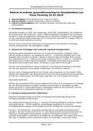 Referat af ordinær generalforsamling 24/1-2010 - Hovedstadens ...