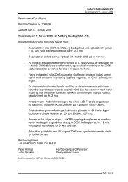 Delårsrapport 1. halvår 2006 for Aalborg Boldspilklub A/S - AaB