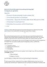 Tirsdag den 16. april 2013 - Esrum Borgerforening