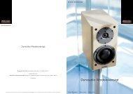 Hent brochure på Dynaudio´s produktsortimentet. - CSN Teknik