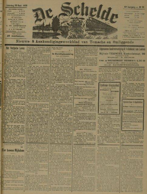 Nieuws- & Aankondigingsweekblad van Temsche en Omliggende ...
