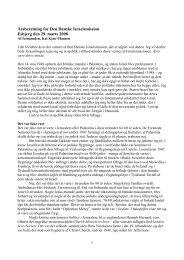 Årsberetning for Den Danske Israelsmission ... - Israelsmissionen