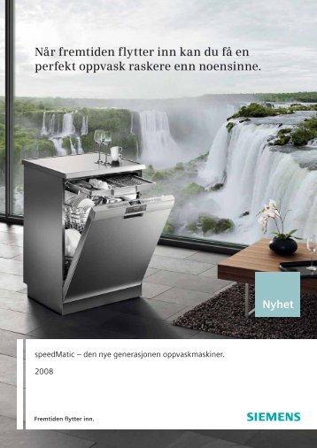 Når fremtiden flytter inn kan du få en perfekt oppvask ... - Siemens