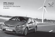 Ampera Prisliste - Opel Danmark - Opel.dk
