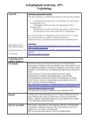 Arbejdspladsvurdering, APV