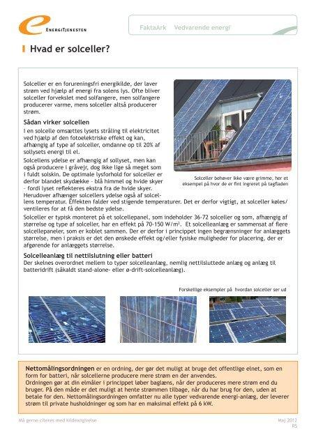 Hvad er solceller? - Energitjenesten