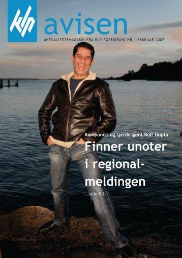 Finner unoter i regional- meldingen - KLP