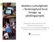 Mobilens (u)muligheder – forskningsfund fra et forsøgs- og udviklingsprojekt