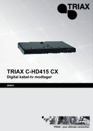 Triax C-HD 415 CX brugermanual - Parknet