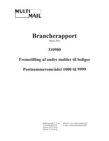 Se et eksempel på en Brancherapport her - Analyserapport.dk