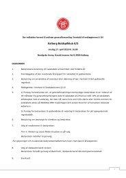 Dagsorden ordinær generalforsamling i AaB 17.4 ... - GlobeNewswire