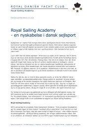 Royal Sailing Academy - en nyskabelse i dansk sejlsport