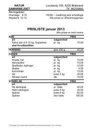 PRISLISTE januar 2013 - Aarhus.dk