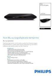 BDP3400/12 Philips Blu-ray-/DVD-afspiller - Magnavox