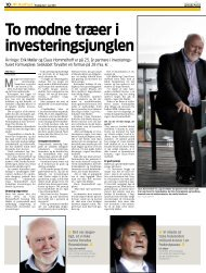 To modne træer i investeringsjunglen Årringe - Formuepleje
