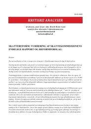 Henrik Herløv Lunds rapport om skattereformen - SEnyt