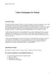 Undervisningsplan for biologi - Højby Friskole