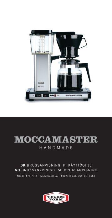 Bruger vejledning (PDF) - Moccamaster.com