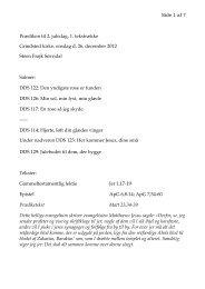 Side 1 af 7 Prædiken til 2. juledag, 1. tekstrække ... - Grindsted Sogn