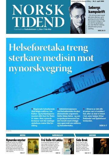 Norsk Tidend 2-09 - Noregs Mållag