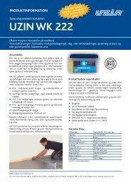 uzin wk 222 produktinformation - Uzin Utz AG