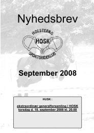 September 2008 - Holstebro Sportsrideklub