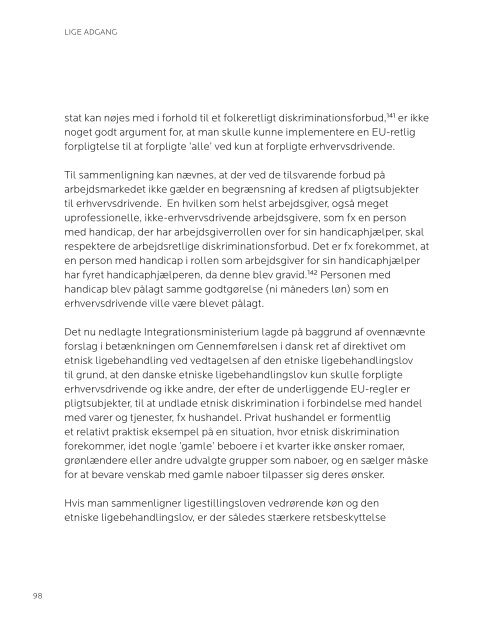 LIGE ADGANG - Danish Institute for Human Rights