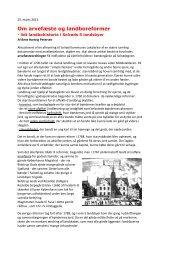 Om arvefæste og landboreformer - SOLOFO