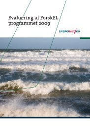 Evaluering af ForskEL- programmet 2009 - Energinet.dk
