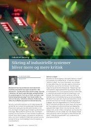 Sikring af industrielle systemer bliver mere og mere kritisk - Siemens