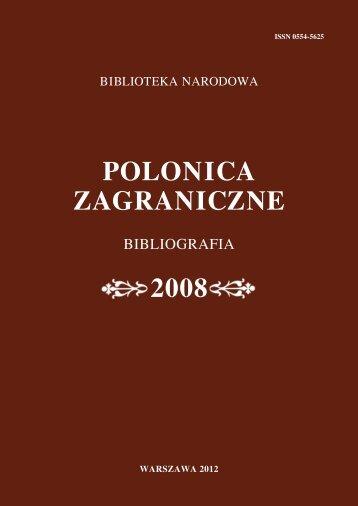 Rocznik 2008 - Biblioteka Narodowa