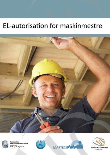 EL-autorisation for maskinmestre - Selandia CEU
