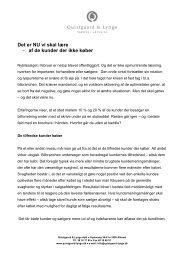 af de kunder der ikke køber - quistgaard-lynge.dk