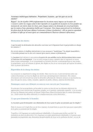 Attestation assurance multirisque 2013 climatic 39 elec for Assurance maison locataire
