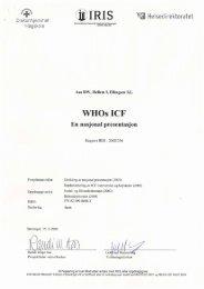 nasjonal presentasjon om ICF - IRIS