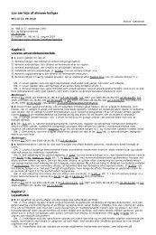 Lov om leje af almene boliger Kapitel 1 Lovens anvendelsesområde ...