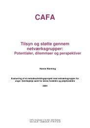 Tilsyn og støtte gennem netværksgrupper: Potentialer - CAFA