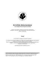 En kritisk diskursanalyse - Kommunikationsforum