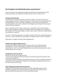 Om fravigelse ved afsluttende prøver og eksaminer1 - Servicestyrelsen
