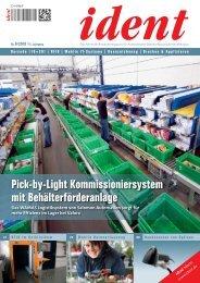 Pick-by-Light Kommissioniersystem mit Behälterförderanlage