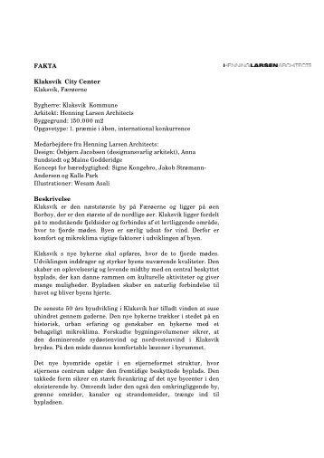 Klaksvik_City_Center_FAKTA.pdf - Henning Larsen Architects