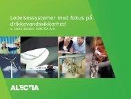 Ledelsessystemer med fokus på drikkevandssikkerhed v ... - Danva