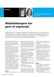 [pdf] Whiplashborgere har gavn af ergoterapi - Ergoterapeutforeningen