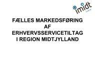Markedsføring af regionale programmer og Imidt