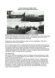 Lidt om Farre by fra 1929 til 1935 - Skrevet af Kurt Hildebrandt ...