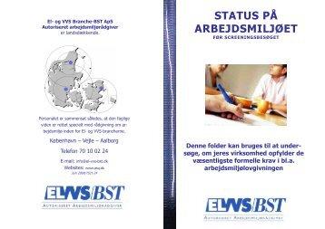 Status på arbejdsmiljøet - El- og VVS/BST