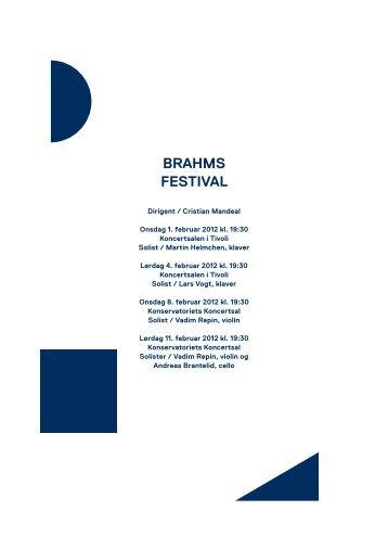Brahms festival / 1.-11. februar 2012 - Copenhagen Phil