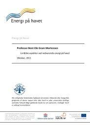Energi på havet Professor Bent Ole Gram Mortensen