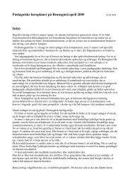 Pædagoiske læreplaner på Brønsgård april 2005 Intro