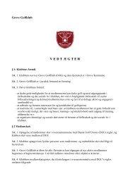 Klubbens vedtægter - opdateret marts 2013 (pdf) - Greve Golfklub